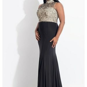 Rachel Allan Beaded Formal Gown New With Tags 16